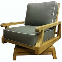King's Lounge Armchair, Swivel, Teak