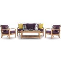 Carlisle Coffee Table with Shelf, Rect