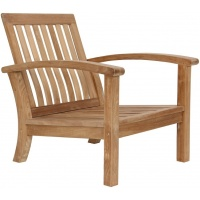 Carlisle Lounge Club Armchair, Narrow Seat, Teak