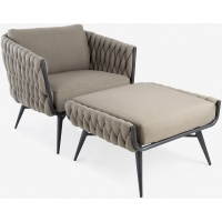 SORRENTO LOUNGE CHAIR AND OTTOMAN - 45