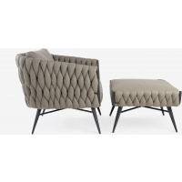 Manicotti Lounge Club Armchair