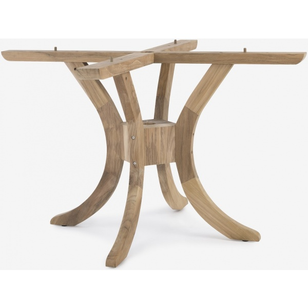 """Banana Pedestal Table Base (tables from 48"""" up to 59"""" round) with Parasol Hole"""