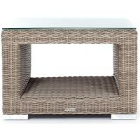 Tobago Side Table w shelf, Sq