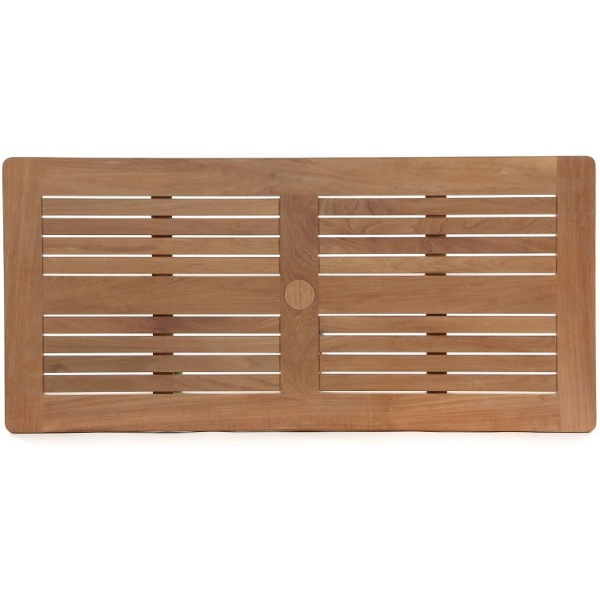Slatted W Border Tabletop, Rect, Multiple Sizes