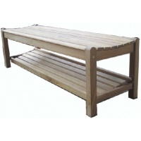 Halifax Backless Bench w shelf, Multiple sizes