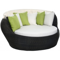 Sherena Round Daybed, with Canopy