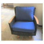 Tanzania Lounge Club Armchair, Swivel