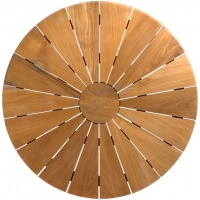 Round Star Tabletop, Slatted, Multiple Sizes