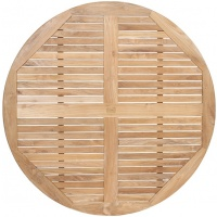 Round Tabletop, Slatted W Border, Multiple Sizes
