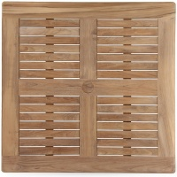Square Tabletop, Slatted with Border, Multiple Sizes