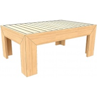 Denver Coffee Table, Rect