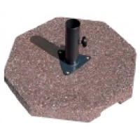 Concrete Base, with Galv Clamp. 120lb